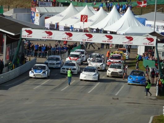 Rallyecross Europameisterschaft 2012 Startaufstellung kleine Klasse