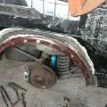 Saab 900 Blech Restaurierung Radlauf hinten