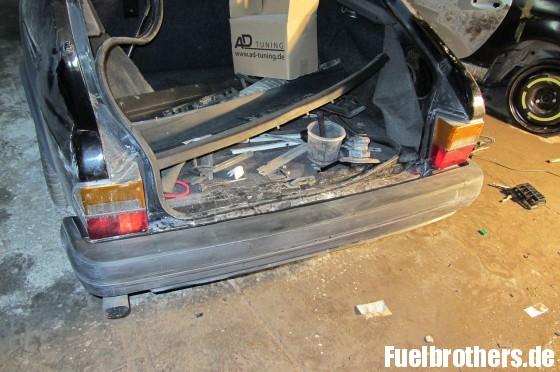 Saab 900 Blech Restaurierung Stoßstangenhaut