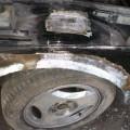 Saab 900 Blech Restaurierung Radlauf vorne