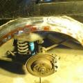 Saab 900 Blech Restaurierung Radlauf hinten Reparaturblech
