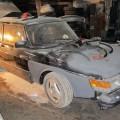 Saab 900 Blech Restaurierung Grundierung