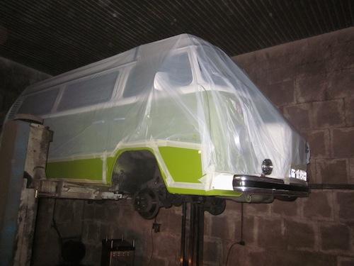 VW T2 Bulli Abkleben Trockeneis