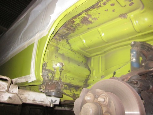 VW T2 Bulli Radkasten Unterboden Trockeneis