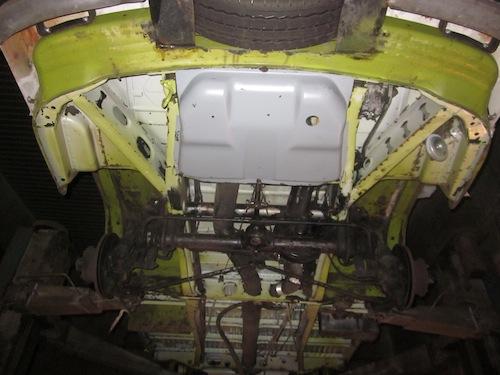 VW T2 Bulli Unterboden Trockeneis