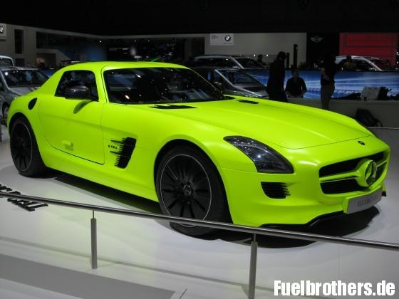 Mercedes-Benz SLS e-cell Genève 2011