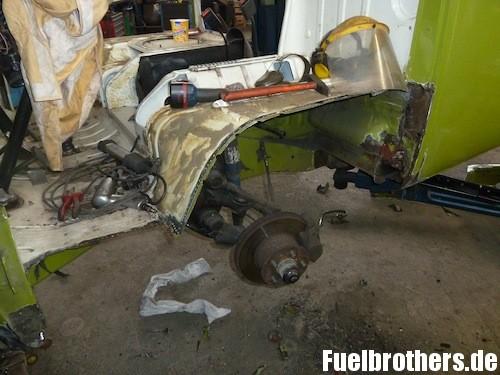 VW T2 Bully Restaurierung rust Rost