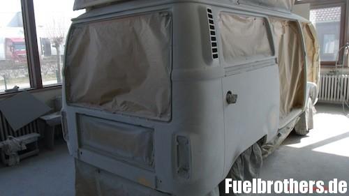 VW T2 Bully Restaurierung paint shop Lackierung