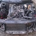 Saab 900 Motorraum vor Restaurierung