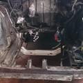 Saab 900 Motorraum geschliffen