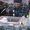 Saab 900 Getriebe einbau (1)