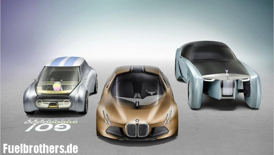 Mini Vision Next 100, BMW Vision Next 100, Rolls Royce Vision Next 100