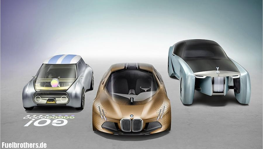 Mini Vision Next 100, BMW Vision Next 100, Rolls Royce Vision Next 100