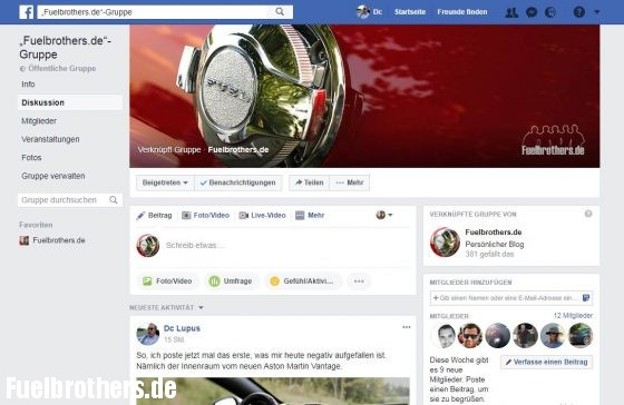 Fuelbrothers Facebook Gruppe