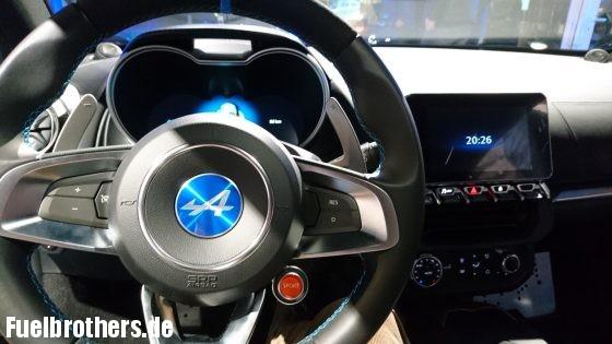 Renault Alpine A110 interieur 2018