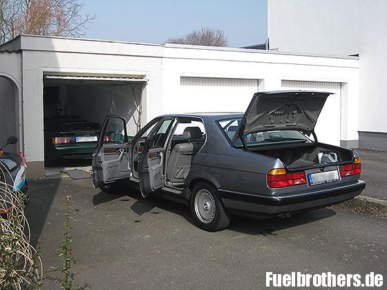 BMW E32 offen