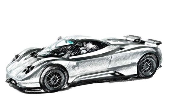 Drawed_Pagani_Zonda