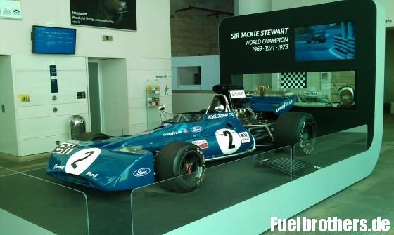 Jackie Stewart Podest im Nationalmuseum