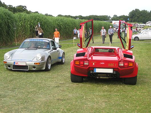 Schloss Dyck Classic Days 2009 Porsche 911 RS Lamborghini Countach