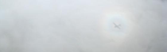 Himmel Wolken Flugzeug