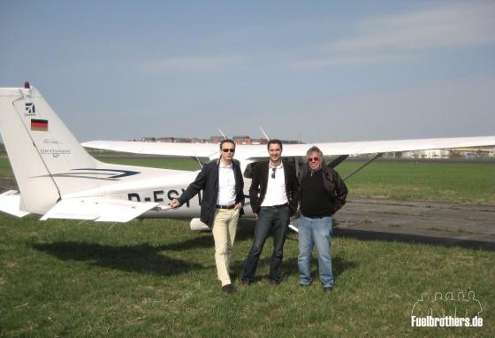 Cessna Erleichterung nach der Landung