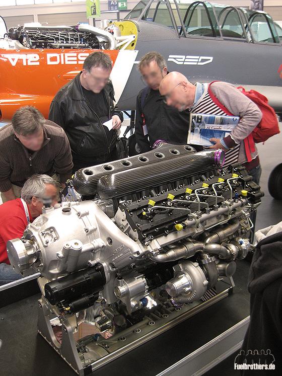 Flugmotor: V12 Diesel
