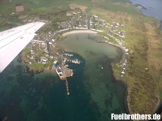 Port Ellen im Überflug