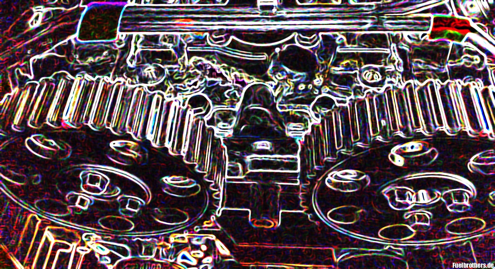 Zahnräder Motor Volvo T5